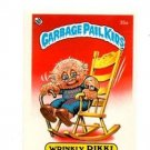 Wrinkly Rikki Sticker Trading Card 1985 Topps Garbage Pail Kids UK Mini #35a