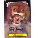 Tom Bunk Auto Leo Tamer SP 2013 Topps Garbage Pail Kids MIni #121a