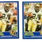 Dalton Hillard Trading Card Lot of (2) 1989 Score #31 Saints