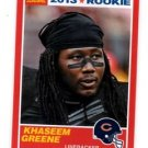 Khaseem Greene RC Red Trading Card Single 2013 Score #390 Bears