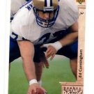 Ed Cunningham RC Tradng Card Single 1992 Upper Deck #8 Rams SR