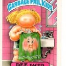 Dee Faced Sticker Trading Card 1986 Topps Garbage Pail Kids 169a