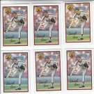 David Cone Oversize Trading Card Lot of (6) 1989 Bowman #375 Mets