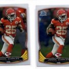 Jamaal Charles Trading Card Lot of (2) 2014 Bowman Chrome #38 Chiefs