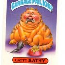Catty Kathy Sticker Trading Card 1986 Topps Garbage Pail Kids #159a
