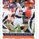 Peyton Manning Trading Card Single 2013 Score #61 Broncos