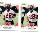 Warrick Dunn Trading Card Lot of (2) 2008 Score #300 Buccaneers