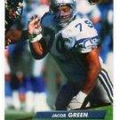 Jacob Green Trading Card Single 1992 Fleer Ultra #374 Seahawks