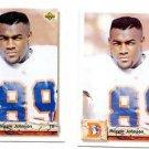 Reggie Johnson Tradng Card Lot of (2) 1992 Upper Deck #555 Broncos