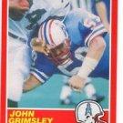 John Grimsley Trading Card Single 1989 Score #182 Oilers
