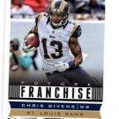 Chris Givens Future Franchise Trading Card Single 2013 Score #324 Rams