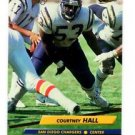 Courtney Hall Trading Card Single 1992 Fleer Ultra #346 Chargers