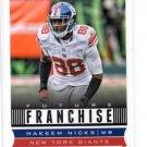 Hakeem Nicks Future Franchise Trading Card Single 2013 Score #319 Giants