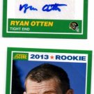 Ryan Otten Auto RC & Base RC Lot 2013 Score #415 Jaguars