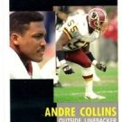 Andre Collins Trading Card Single 1991 Pinnacle #278 Redskins