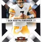 Ben Roethlisberger Trading Card Single 2008 Donruss Threads #77 Steelers