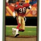 Merton Hanks Tradng Card Single 1999 Topps #136 49ers
