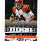 Andy Dalton Future Franchise Trading Card Single 2013 Score #305 Bengals