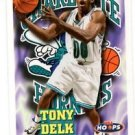 Tony Delk Trading Card Single 1997-98 Hoops #21 Hornets