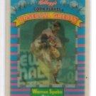 Warren Spahn Trading Card Single 1991 Sportflics Kelloggs #12 Braves