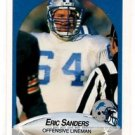 Eric Sanders RC Trading Card Single 1990 Fleer #285 Lions