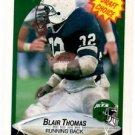 Blair Thomas RC Trading Card Single 1990 Fleer #370 Jets