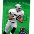 Napoleon Kaufman Tradng Card Single 1997 Playoff First and Ten #106 Raiders
