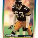 Bryan Hinkle Trading Card Single 1990 Score #396 Steelers