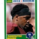 Damontre Moore RC Trading Card Single 2013 Score #353 Giants