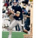 Chris Hakel RC Tradng Card Single 1992 Upper Deck #11 Redskins SR