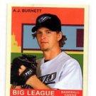 A.J. Burnett Red Trading Card Single 2007 UD Goudey MIni #1 Blue Jays