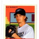 A.J. Burnett Trading Card Single 2007 UD Goudey MIni Base #1 Blue Jays