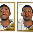 Dexter Fowler Trading Card Lot of (2) 2011 Topps Heritage #415 Rockies