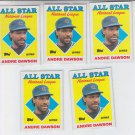 Andre Dawson Trading Card Lot of (5) 1988 Score #401 Cubs