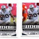 Darren McFadden Franchise Trading Card Lot of (2) 2013 Score #289 Raiders