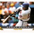 Barry Bonds Trading Card Single 1993 Topps #2 Pirates