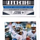Calvin Johnson Franchise Trading Card Lot of (2) 2013 Score #277 Lions