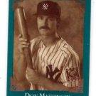 Don Mattingly Heritage Series 1992 Leaf Studio #BC-5 Yankees