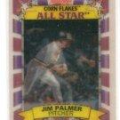 Jim Palmer Trading Card Single 1992 Sporflics Kellogs Corn Flakes #3 Orioles