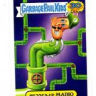 Messed Up Mario 80s Spoof Trading Card 2015 Topps Garbage Pail Kids #18b
