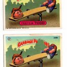 Teeter Todd Sticker Lot (2) 1987 Topps Garbage Pail Kids #338b EX+