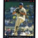Chad Cordero Red Back Trading Card 2007 Topps #438 Nationals