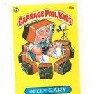 Geeky Gary License Back Sticker Card 1985 Topps Garbage Pail Kids UK Mini #10b
