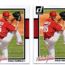 Cole Hamels Trading Card Lot of (2) 2014 Donruss #322 Phillies