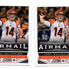 Andy Dalton Airmail Trading Card Lot of (2) 2013 Score #227 Bengals