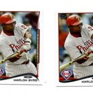 Marlon Byrd Trading Card Single 2013 Topps Mini Exclusives #484 Phillies