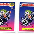 Beetle Jace Messed-Up Michael 80s Spoof 2015 Topps Garbage Pail Kids #2a #2b