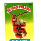 Kim Kong License Back Sticker 1985 Topps Garbage Pail Kids UK Mini #34a