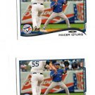 Marcus Izturis Trading Card Lot of (2) 2014 Topps Mini Exclusives #554 Blue Jays