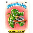 Slimy Sam License Back Sticker 1985 Topps Garbage Pail Kids UK Mini #38a